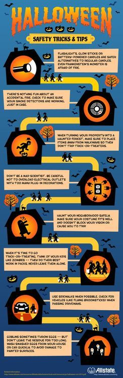 Be safe and smart this #Halloween! Follow these tips and you'll be sure to have a safe and #fun night!