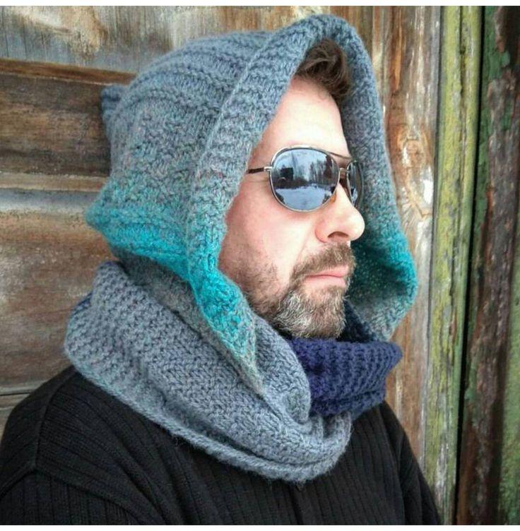 Hooded oversize, Infinity scarf hooded, Wool chunky snood, Chunky scarf hooded, Infinity mens scarf, Oversize mens scarf, Scarf hooded wool