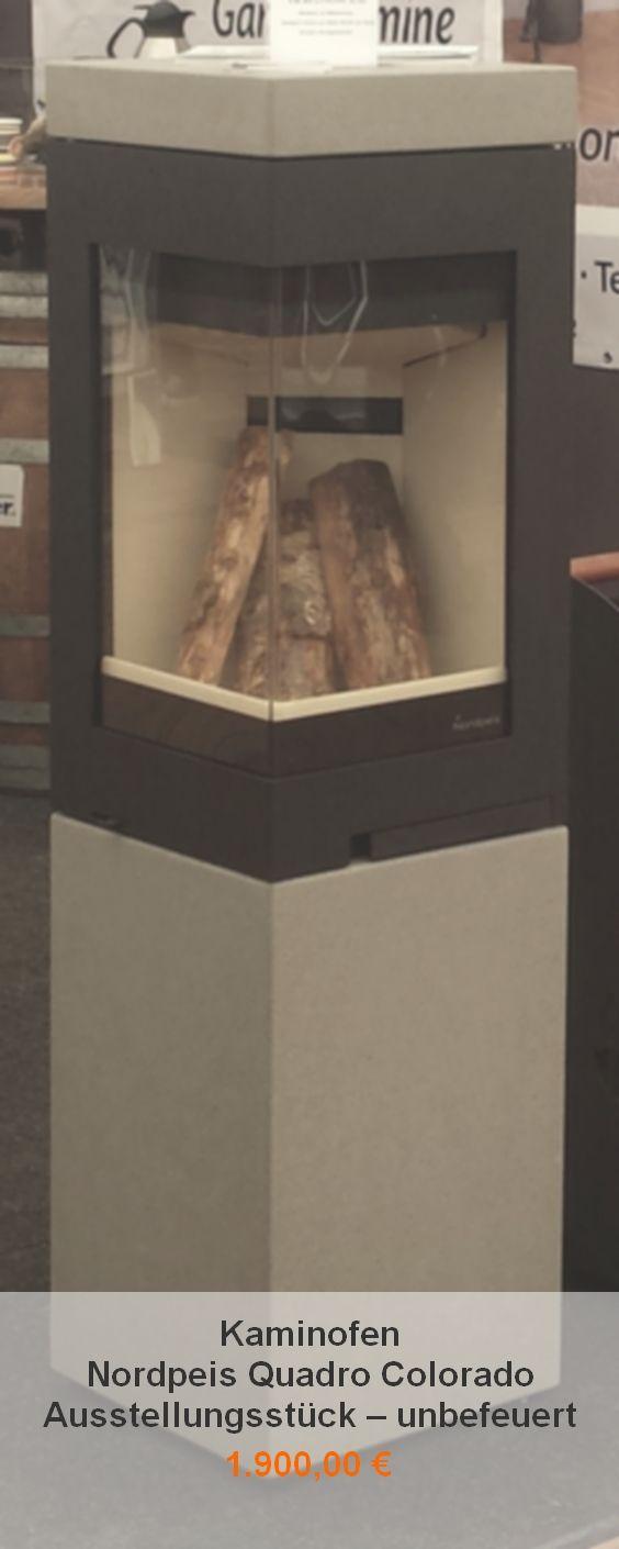 Stunning Kaminofen Nordpeis Quadro Colorado u Ausstellungsst ck u unbefeuert u inklusive Aschebox u regul rer Preis