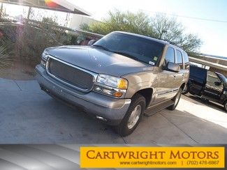 Check out this 2000 GMC Yukon SLT *LEATHER** LOADED** in Pewter Metallic from Cartwright Motors in Las Vegas, Nevada 89119. It has an automatic transmission. Engine is 5.3L V8. Call VINCENT  DIBELLA at 702-476-6867 today!