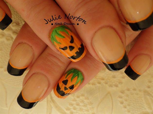 Süße Jack o 'Laternen Inspiriert von Robin von Stoneycute1 – Nail Art Gallery …   – Halloween Nail Art