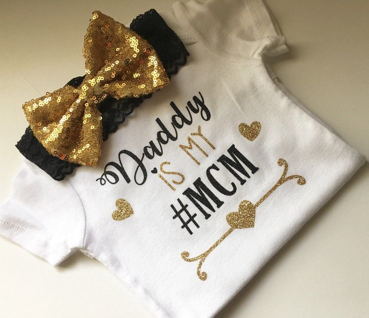 Daddy is my MCM, daddy's girl, baby girl, #mcm, onesie, girls, newborn by PerfectlyPINKBow on Etsy https://www.etsy.com/listing/473538370/daddy-is-my-mcm-daddys-girl-baby-girl