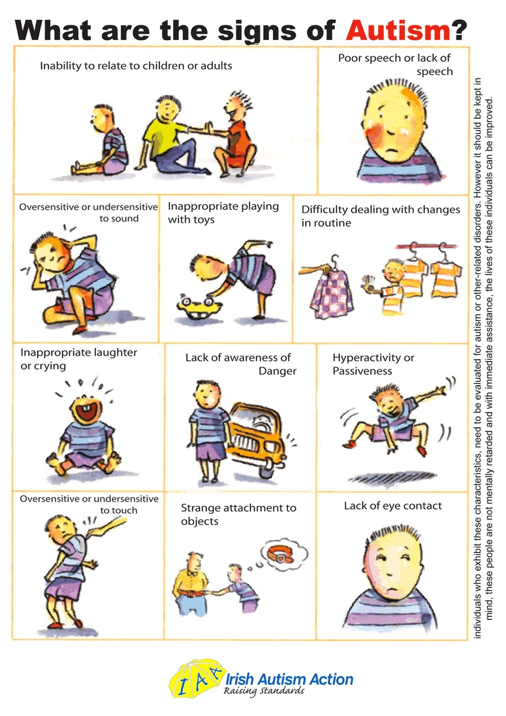 Signs of Autism ~ We need this poster at work...