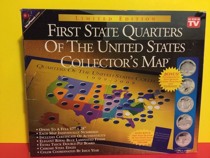 First State Quarters Of The United States Collector S Map 1999 2008