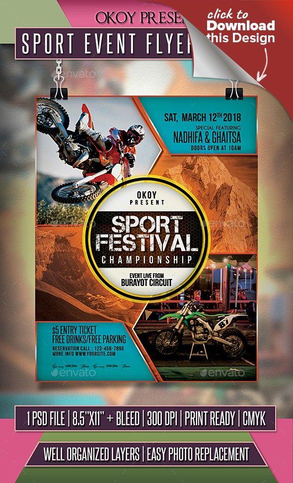 Sport Event Flyer Poster Event Flyer Templates Event Flyer