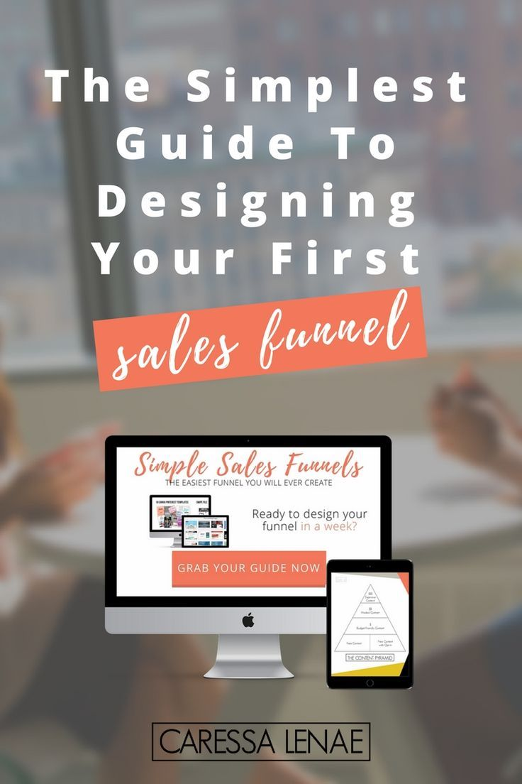Getting started with sales funnels couldn't be any easier. Grab your simple sales funnel guide if you are a creative entrepreneur, freelancer, blogger, or getting started with your online business. via @caressalenae