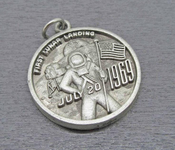 Vintage Apollo 11 Souvenir Charm or Pendant First Lunar