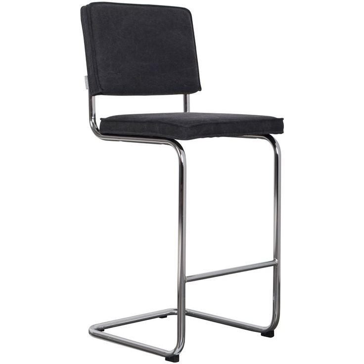 Maak een originele zitplek in huis met deze geweldige Zuiver Ridge Vintage Barstoel. De stoel heeft een nostalgische uitstraling door de vintage, authentieke kleur van de katoenen zitting. Een mooie toevoeging aan de keukenbar of een hoge tafel.