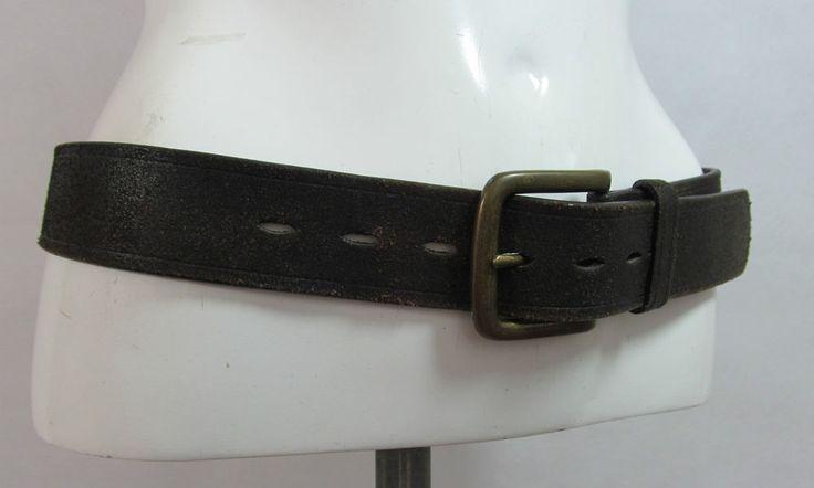 Next vintage look brown leather belt fashion belt Male S/M Female M/L R15321 #style #fashion #love #woman #chic #eBay #BELT #sangriasuzie