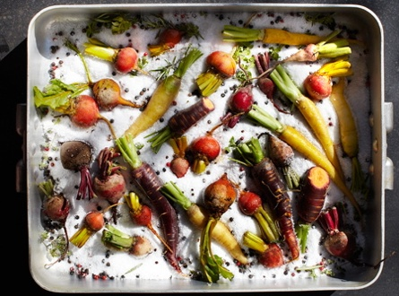 Salt-Baked Carrots and Beets | Vegetable Dishes | Pinterest