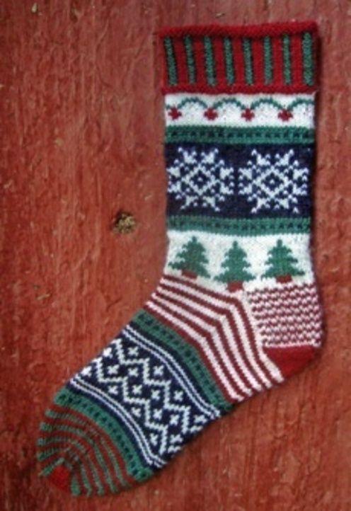 Terry Liann Morris--Christmas Holiday Socks (Cuff Down)