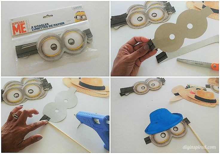 DIY Minion Photo Booth Props