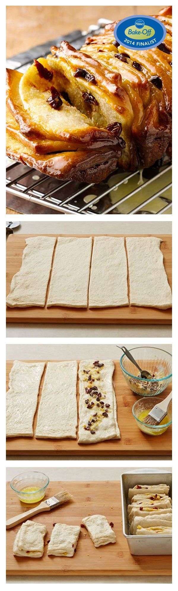 47th Bake-Off Contest Finalist: Cherry-Orange Pull-Apart Breakfast Bread by Maria Rokas from San Francisco, CA