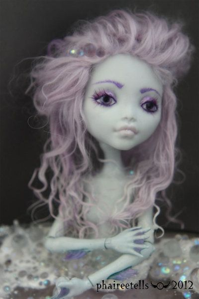 MH monster high repaint Lagoona Mermaid Portrait by phairee004.deviantart.com on @deviantART