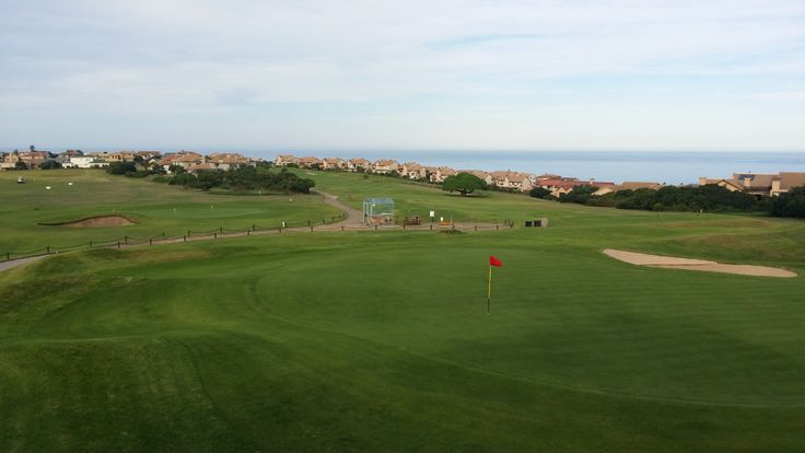 View of Mossel Bay golf course from the club house. Western Cape, South Africa. Home club of Louis Oosthuizen