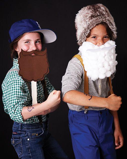 DIY HALLOWEEN (Beards are IN) it is the long or short of it Fake Beards! -tutorial. http://www.sweetpaulmag.com/crafts/fake-beards #sweetpaul