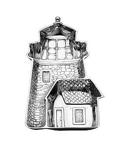 Wilton Armetale Lighthouse Chip & Dip Tray