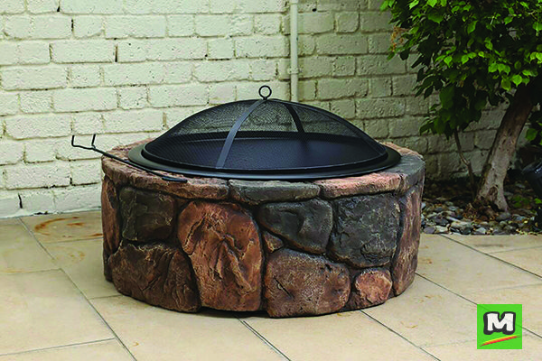 Backyard Creations 35 Rockdale Fire Pit Is Perfect For Your Outdoor Gatherings This Wood Burning Fire Pit Backyard Creations Fire Pit Wood Burning Fire Pit