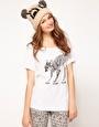 Agrandir Brat & Suzie - T-shirt avec manches roulées et motif faon patinant