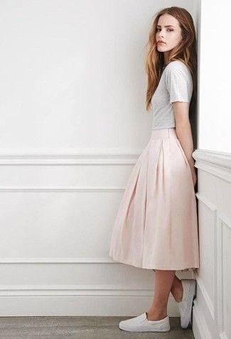 https://cdn.lookastic.com/looks/white-crew-neck-t-shirt-pink-pleated-midi-skirt-white-slip-on-sneakers-large-25857.jpg