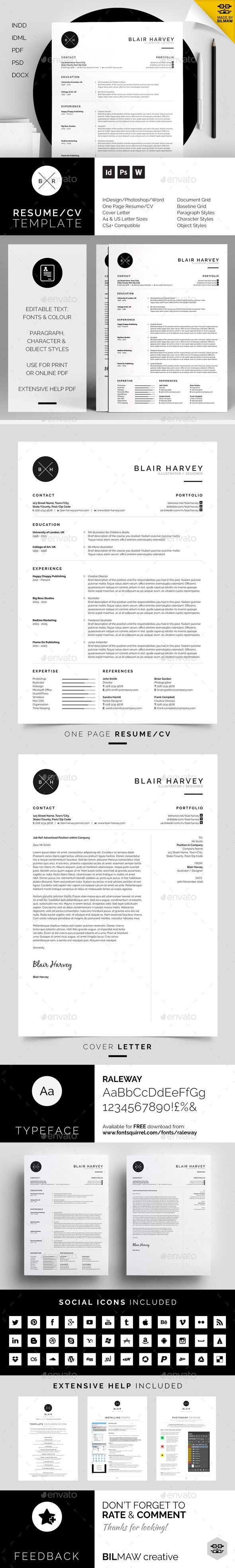 cover letter template for receptionist%0A simple design focusing on experience  which includes a single page resume cv  and cover