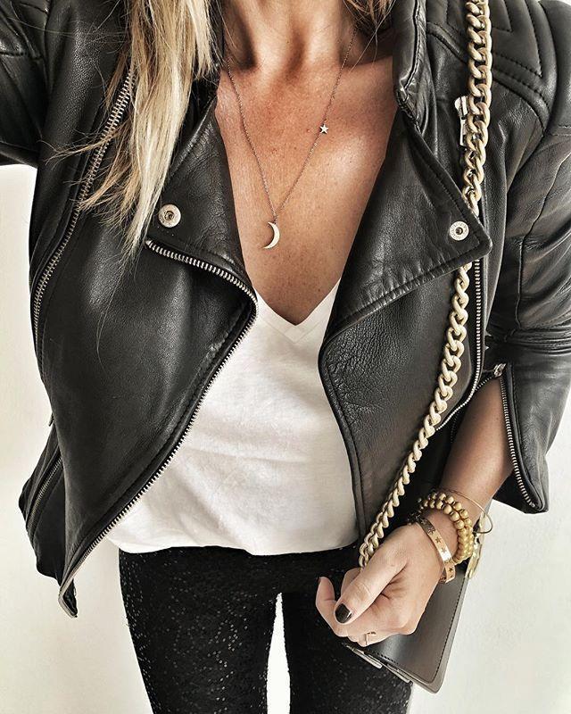 Mond und Stern Halskette Rose Gold – #fashion #style #ootd #girly #fashionista