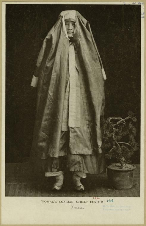 Woman's correct street costume. From The passing of Korea. (New York : Doubleday, 1906) Hulbert, Homer B. (Homer Bezaleel) (1863-1949) author