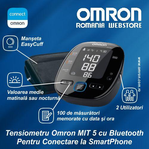 #Tensiometru Omron MIT5 Pentru Conectare la #SmartPhone sau #Tableta  http://www.omron.com.ro/cumpara/tensiometru-omron-mit-5-connect-7607574