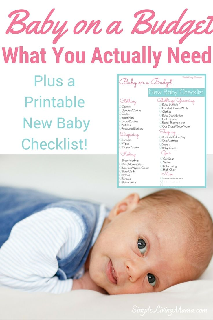 Find out what you really need when having a new baby! Plus, snag the free New Baby Checklist!