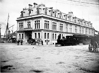 Wellington Harbour Board, Head Office, Jervois Quay. 1890s.  Source: Wellington City Council Archives. Refer to our Terms and Conditions for conditions of use.  Terms & Conditions