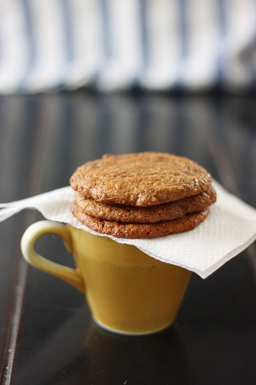 no flour, no refined sugar. spiced banana almond cookies that look AMAZING. from Summer Harms.