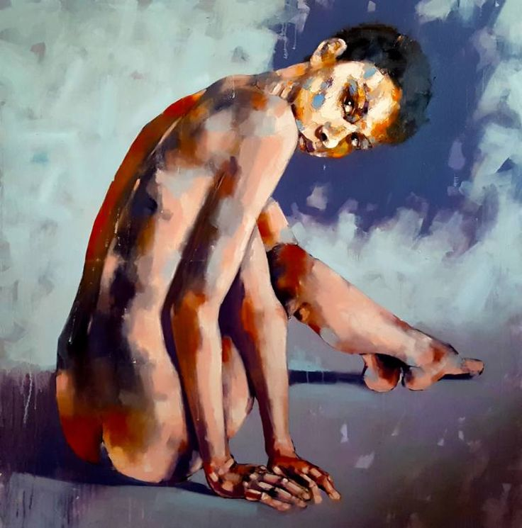 """Saatchi Art Исполнитель ТОМАС Donaldson;  Картина """"Оглядываясь назад"""" #art"""