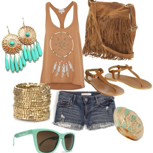 : Summer Styles, Fashion, Dream Catchers, Hippie, Dream Closet, Summer Outfits, Dreamcatchers, Cute Outfit, Summer Clothing