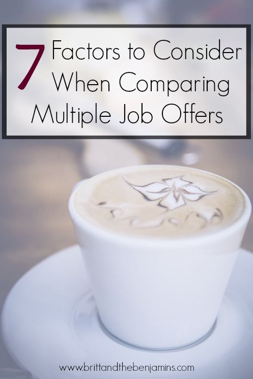 Think salary is the most important aspect when deciding between job offers? Here are 7 other factors to consider that could bring more value (and more money) your way. I Career I Job Offers I Job Hunt I Retirement I Advice I