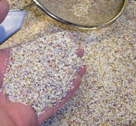 How to make cornmeal - to make grits, I think the corn needs to be treated with lye first.