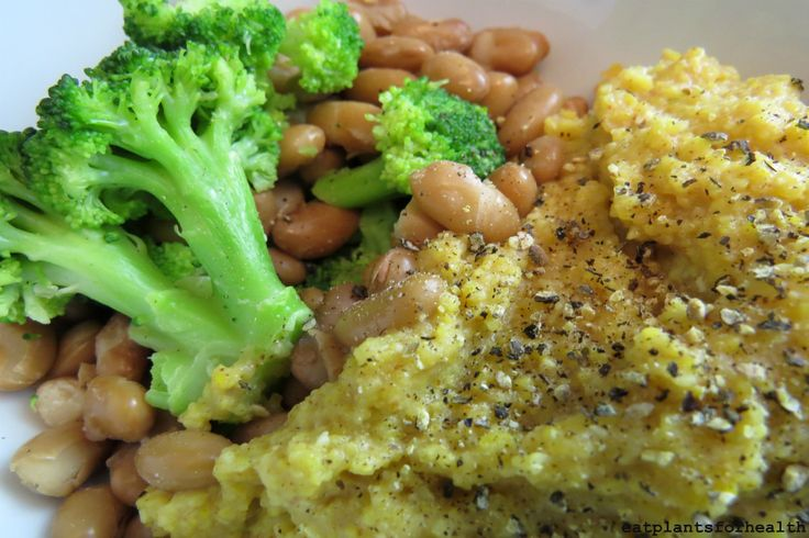 Cheezy Polenta with Beans and Greens - Powered by @ultimaterecipe
