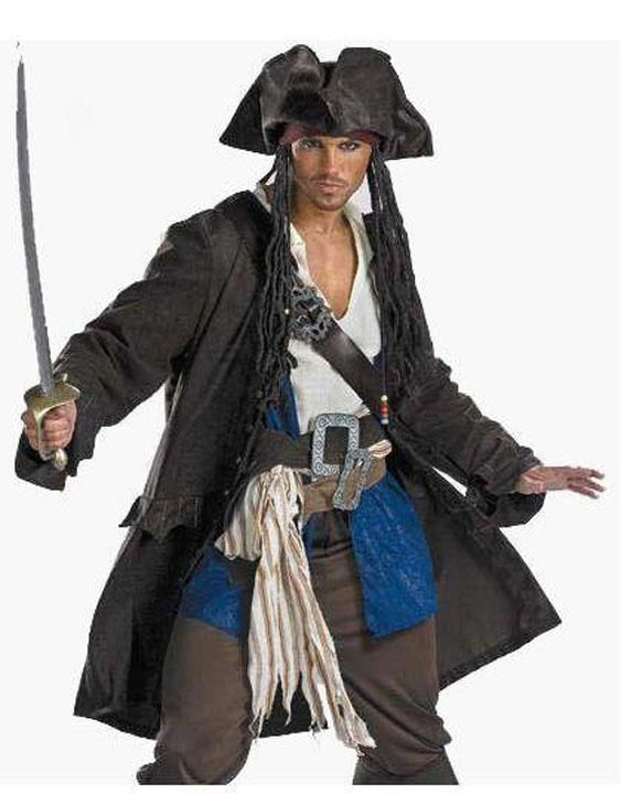Buy Pirate Deluxe  Men's Fancy Dress, Halloween  Costume / ... - One Size / As shown / Polyester/Spandexfor R2,309.50