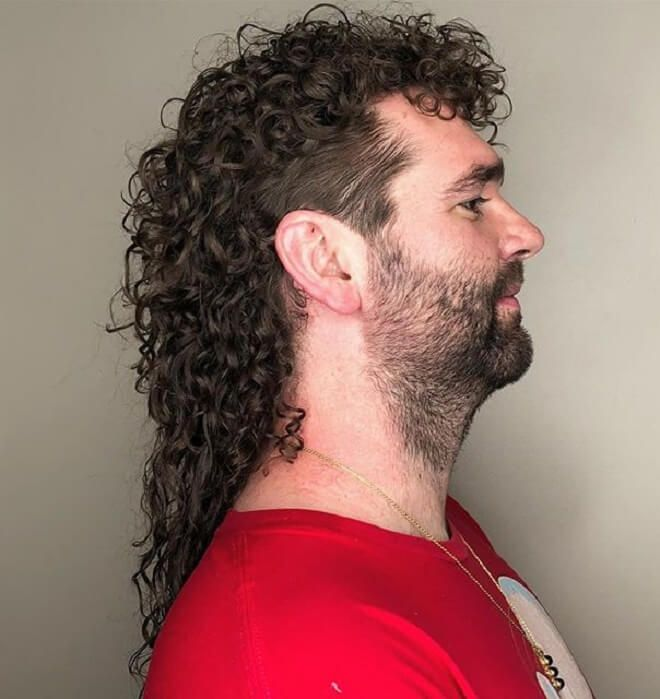 10+ Curly mullet hairstyle ideas