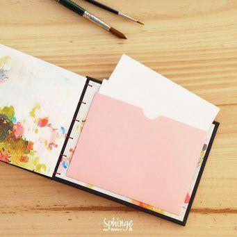 Cuaderno de dibujo con bolsillo trasero portadocumentos