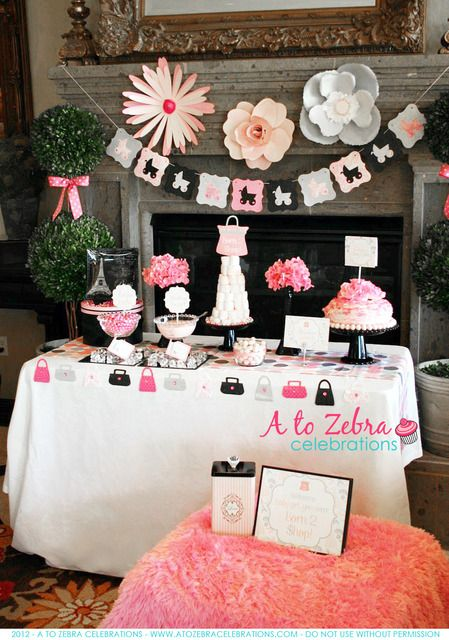 Beautiful shopping themed baby shower!