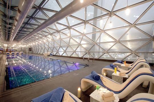 Qatar's $16 Billion Hamad International Airport in Doha homes a 25 meter temperature-controlled indoor lap pool.