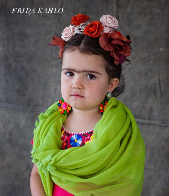 Mini-Frida, complete with an unbelievably great unibrow. | 24 Badass Halloween Costumes To Empower Little Girls
