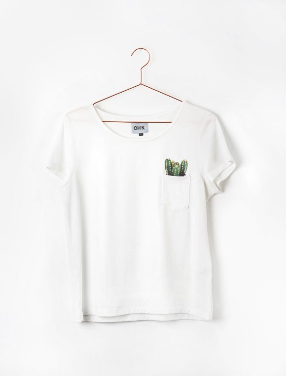 t-shirt cactus pocket // oh !k Available on esty