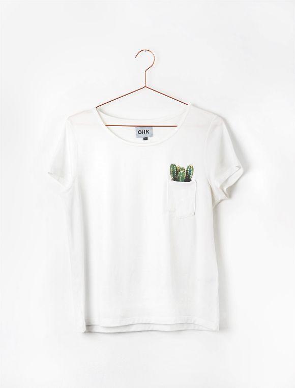 Camiseta + bolso com cactos