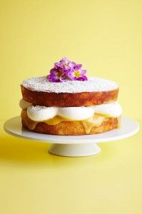 Lemon curd, coconut and mascarpone sponge cake - ideal for making over Easter for friends and family!