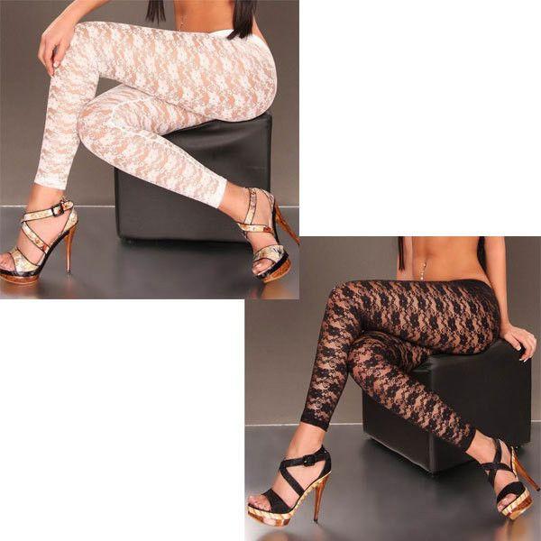 Sexy Lace Leggings Transparent Sexy Bodice Leggings