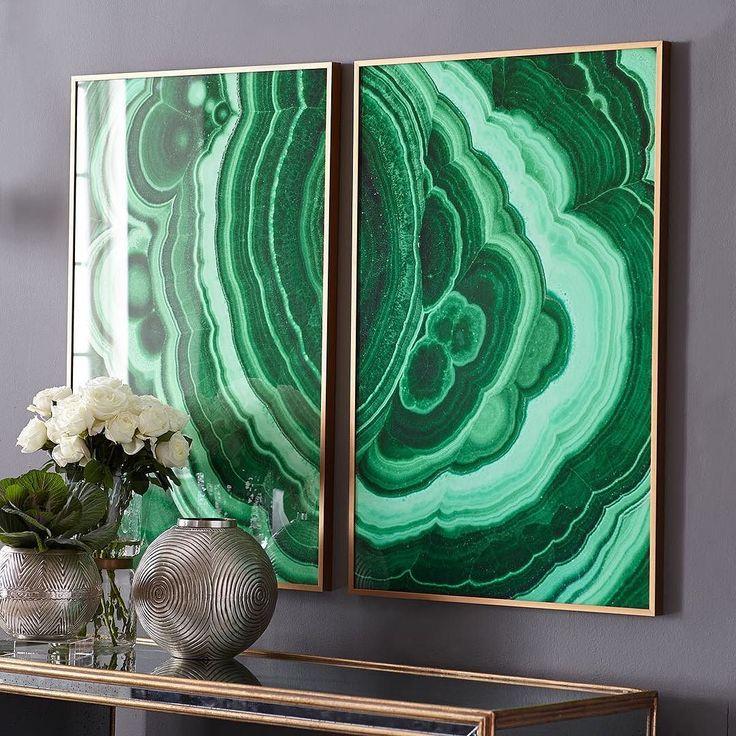 """In the spirit of St Patrick's Day, bring rich green hues into your home with our Malachite Wall Art.  """"Luck is believing you're lucky."""" — Tennessee Williams"""