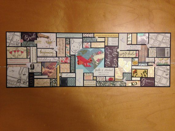 8 X 24 Custom Panoramic Card Collage Wedding Cards Keepsake Custom Wedding Cards Wedding Cards