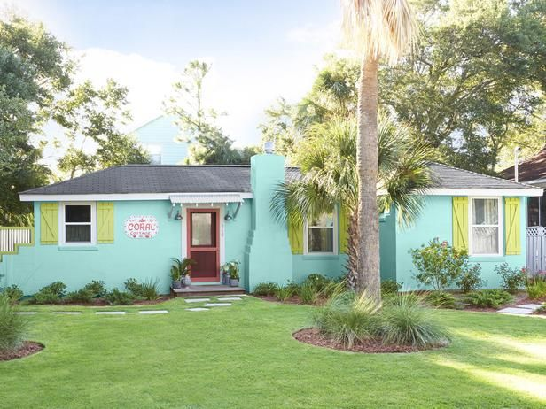 Go A Little Crazy With Exterior Paint Colors For Your Vacation Or Coastal  Home. Hey