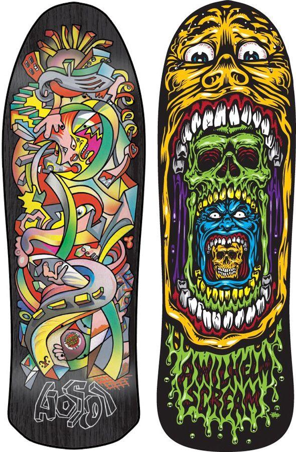 Santa Cruz Skate Art by Jim & Jimbo Phillips -